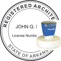 Architect Seal - Pre Inked Stamp - Arkansas