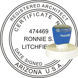Architect Seal - Pre Inked Stamp - Arizona
