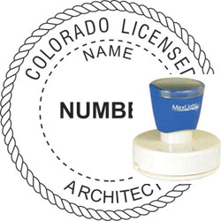 Architect Seal - Pre Inked Stamp - Colorado