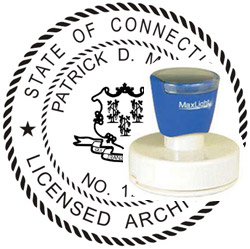 Architect Seal - Pre Inked Stamp - Connecticut