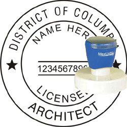 Architect Seal - Pre Inked Stamp - Dist of Columbia