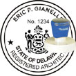 Architect Seal - Pre Inked Stamp - Delaware ARCHITECT_STAMP_PRE_INKED_DELAWARE