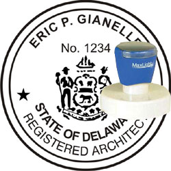 Architect Seal - Pre Inked Stamp - Delaware