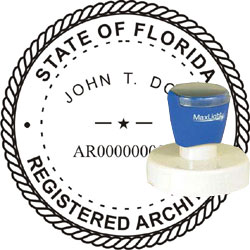 Architect Seal - Pre Inked Stamp - Florida