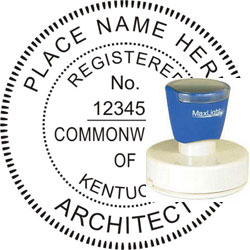 Architect Seal - Pre Inked Stamp - Kentucky
