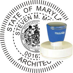 Architect Seal - Pre Inked Stamp - Maryland