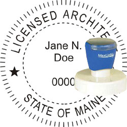 Architect Seal - Pre Inked Stamp - Maine