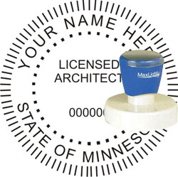 Architect Seal - Pre Inked Stamp - Minnesota