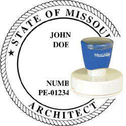 Architect Seal - Pre Inked Stamp - Missouri