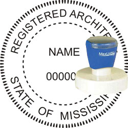 Architect Seal - Pre Inked Stamp - Mississippi