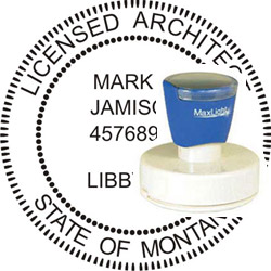 Architect Seal - Pre Inked Stamp - Montana