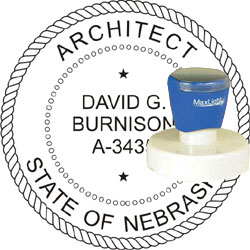 Architect Seal - Pre Inked Stamp - Nebraska
