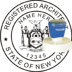 Architect seal pre inked stamp new york for New york state architect stamp