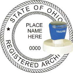 Architect Seal - Pre Inked Stamp - Ohio