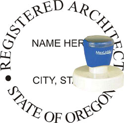 Architect Seal - Pre Inked Stamp - Oregon