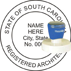 Architect Seal - Pre Inked Stamp - South Carolina
