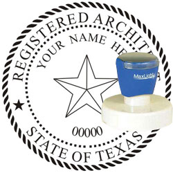 Architect Seal - Pre Inked Stamp - Texas
