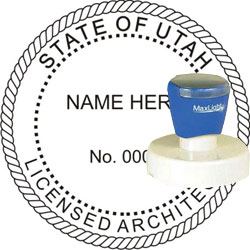 Architect Seal - Pre Inked Stamp - Utah