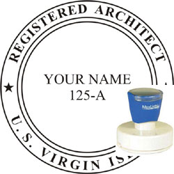 Architect Seal - Pre Inked Stamp - Virgin Islands