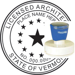 Architect Seal - Pre Inked Stamp - Vermont