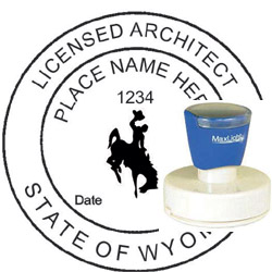 Architect Seal - Pre Inked Stamp - Wyoming