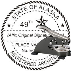 Architect Seal - Desk Top Style - Alaska