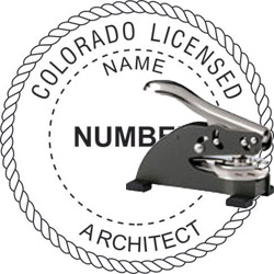 Architect Seal - Desk Top Style - Colorado