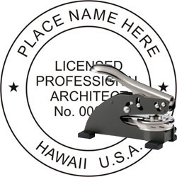 Architect Seal - Desk Top Style - Hawaii