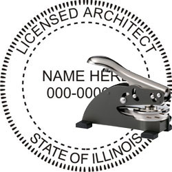 Architect Seal - Desk Top Style - Illinois