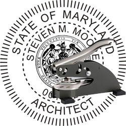 Architect Seal - Desk Top Style - Maryland