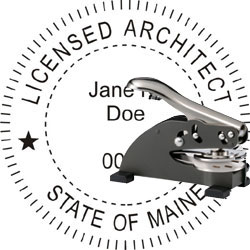 Architect Seal - Desk Top Style - Maine