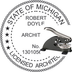 Architect Seal - Desk Top Style - Michigan