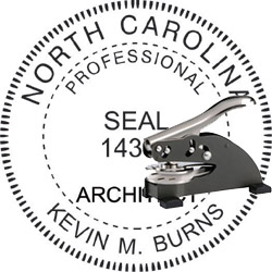 Architect Seal - Desk Top Style - North Carolina