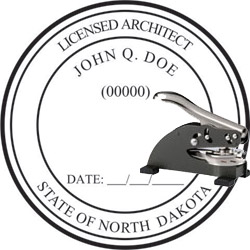 Architect Seal - Desk Top Style - North Dakota
