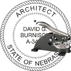 Architect Seal - Desk Top Style - Nebraska