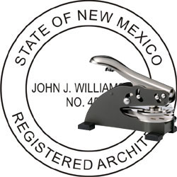 Architect Seal - Desk Top Style - New Mexico