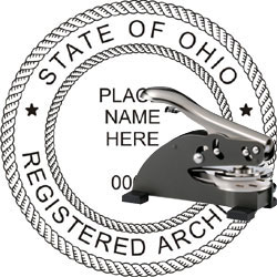 Architect Seal - Desk Top Style - Ohio