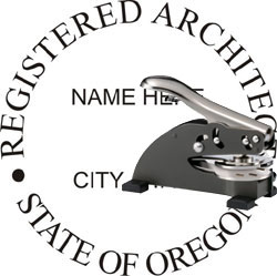 Architect Seal - Desk Top Style - Oregon