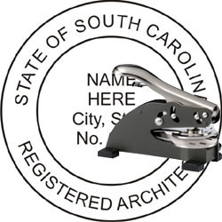 Architect Seal - Desk Top Style - South Carolina