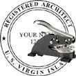 Architect Seal - Desk Top Style - Virgin Islands ARCHITECT_DESK_TOP_VIRGIN_ISLANDS