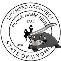Architect Seal - Desk Top Style - Wyoming