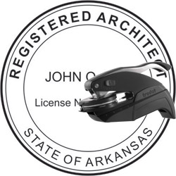 Architect Seal - Pocket Style - Arkansas