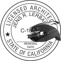 Architect Seal - Pocket Style - California
