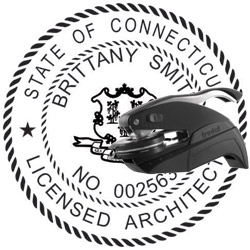 Architect Seal - Pocket Style - Connecticut