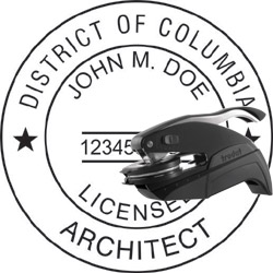 Architect Seal - Pocket Style - Dist of Columbia
