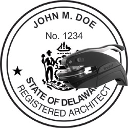 Architect Seal - Pocket Style - Delaware