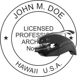 Architect Seal - Pocket Style - Hawaii