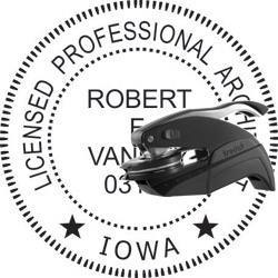 Architect Seal - Pocket Style - Iowa