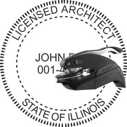 Architect Seal - Pocket Style - Illinois