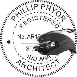 Architect Seal - Pocket Style - Indiana
